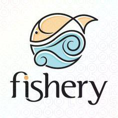 Fishery logo logo