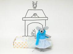 Il topolino nella scatola dei fiammiferi di atelierpompadour