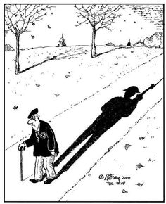 Remembrance Cartoon Photo: Armistice Day Cartoon portraying an old man as a soldier he once was. Respect our veterans, they fought for our freedom.