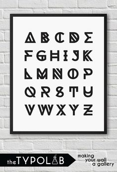 Alphabet ABC Nursery / typography print typography poster / inspirational home art /gallery wall poster / black and white, No. Typography Prints, Typography Poster, Abc Nursery, Poster Wall, Home Art, Alphabet, Gallery Wall, Kids, Children