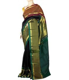 Green Molakalmuru Handloom Pure Silk Saree