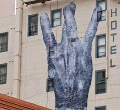west side sign - graffitti
