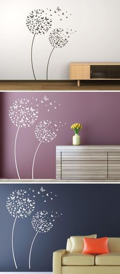 Wall mural butterfly flowers of Wandtattoocom The post butterfly flowers appeared first on Woman Casual - Kids and parenting