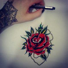 old school rose