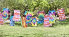 For a variety of tie-dye techniques, we'll teach you how to twirl, stripe, and spin your shirts into new creations!