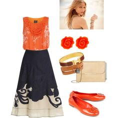 orange by vasilisa-i on Polyvore featuring мода, Dorothy Perkins, NIC+ZOE, Tory Burch, Vince Camuto, Fornash, Hermès and Federica Rettore