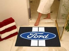 "Ford - Ford Oval with Stripes All Star Mat 33.75""""x42.5"""""