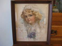 It is signed by the artist, Chas. W. Lemon. Colors are pretty shades of cream, pale blue and purple. the frame is nice but does have some scuffs that I am sure would cover with Old English Scratch Cover. | eBay!