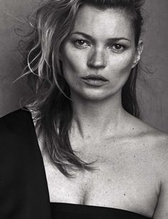Kate Moss Shot by Peter Lindbergh for Vogue Italia, January 2015