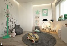 A very cool kids room - love the mint accentsDepartment of Interior Architecture