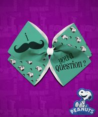 Peanuts - Snoopy I Mustache You a Question Quad
