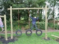 26 ideas diy kids backyard play area old tires Tire Playground, Outdoor Playground, Playground Ideas, Backyard For Kids, Diy For Kids, Backyard Ideas, Outdoor Play Areas, Tyres Recycle, Old Tires