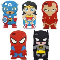 super hero, super hero iPod 4 case, 3D Cute Superhero Series Soft Silicon Case for iPod Touch 4/4g/4th Generation, fun cases in silicone protect your iPod touch. It is Easy access to all ports, controls and connectors.
