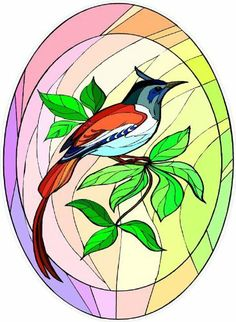 Colorful Bird with Long Red Tail Feathers-Etched Vinyl Stained Glass Film, Static Cling Window Decal by Window Art in Vinyl Etchings. $7.95. Clear static-cling vinyl decal effortlessly attaches to glass without the need for any adhesive.. Vinyl decal material and ink are safe for outdoor or indoor use.. Many standard sizes are available. No additional charge for custom sizes.. Advanced UV protection insures material will not discolor or damage glass.. Simple to remo...