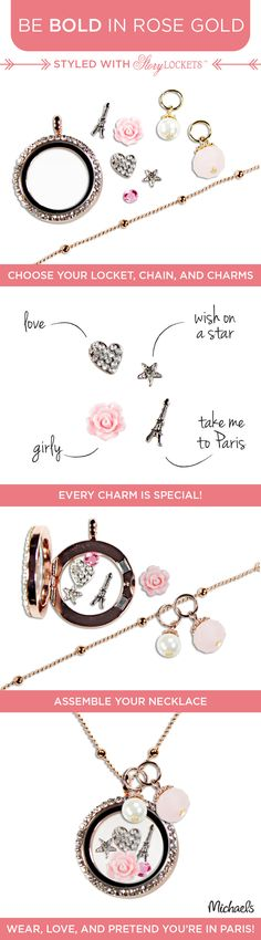 It's never been easier to create your own personalized jewelry using Story Lockets, available at Michaels