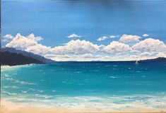 Acrylic painting My Arts, Waves, Painting, Outdoor, Outdoors, Painting Art, Paintings, Ocean Waves, Outdoor Games