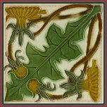 """Historical antique tile reproduced on a smooth surface 4.25"""" or 6"""" ceramic tile. Perfect for interior tile wall accents, backsplashes, fireplace surrounds, bathroom and showers walls, kitchens and craft projects. Not intended for outdoor use. Our tiles are copies of costly authentic original antique tiles. Suggestion: Order one tile to review before placing a large order."""