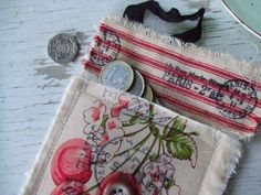 coin purse shabby chic