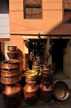 Brass & Copper Pots #TuscanyAgriturismoGiratola