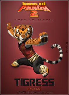 Kung Fu Panda 2 icon Tigress by YANNIArt.deviantart.com on @DeviantArt