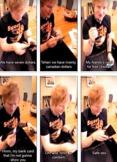 haha but remember when Ed was told to show us what was in his wallet and frame 5 happened. yeah.