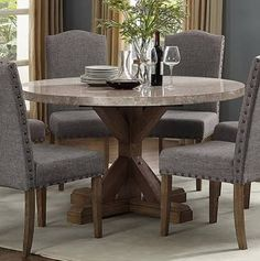 Marble Round Dining Table With Chairs Marble Top Dining Table