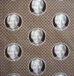 Nelson Mandela Shweshwe cotton fabric by FabricStyle Nelson Mandela, Mandela Art, African Textiles, African Fabric, African Beauty, African Art, South African Design, Out Of Africa, Textile Design
