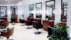 Styling Room with Vintage and Modern design elements at PROPERHAIR Color Salon in Costa Mesa, CA