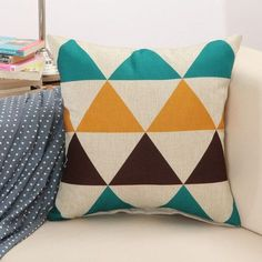 Creative Geometric Linen Cotton Decorative Throw Pillow Covers