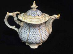 Unmarked German Meissen Coffee Pot : Lot 1100