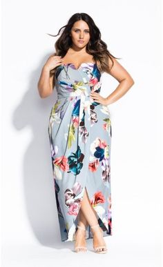 A timeless shape in a popping new floral print, embrace the elegance of the Contempo Floral Maxi Dress. Maxi Skirt Formal, Floral Maxi Dress, Plus Size Formal Dresses, Elegant Dresses, Maxi Skirt Outfits, Midi Skirt, Modest Skirts, African Print Fashion, Ladies Dress Design