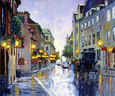"""Résultat de recherche d'images pour """"peinture paysage sous la pluie"""""""