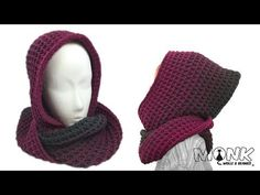 Crochet Pattern Loop: Here you will find a free crochet pattern for a capuzeloop / scoodie in waffle pattern. How to crochet a loop with a beautiful gradient. Knit Or Crochet, Crochet Scarves, Free Crochet, Knitting Patterns, Crochet Patterns, Knitting For Beginners, Needlework, Diy And Crafts, Beret