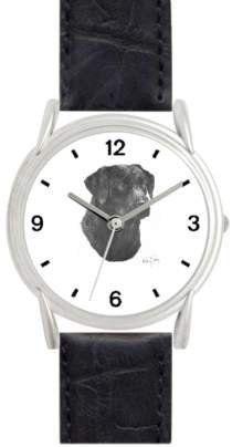 LABRADOR RETRIEVER (BLACK) DOG (MS) - WATCHBUDDY® DELUXE SILVER TONE WATCH - Black Strap - Small Size (Children's: Boy's & Girl's Size) WatchBuddy. $49.95