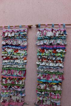 Ruffled Curtain Farmhouse Curtain Shabby Chic Curtain