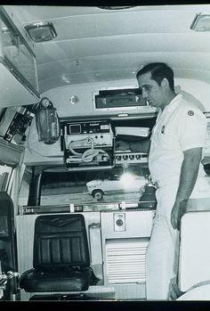 Inside Ambulance way back when