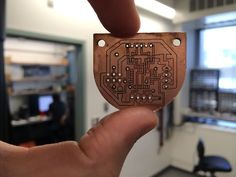 Picture of Double-sided PCBs with a laser cutter