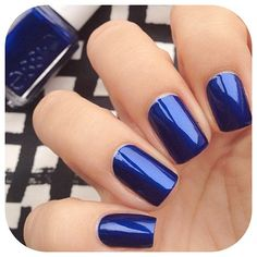 Not that into blue nail polish but this is pretty