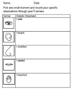 Sensory Images Worksheet Pdf - Adriaticatoursrl