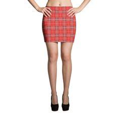 Red Flannel Mini Skirt