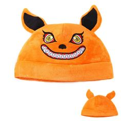 Kurama Kyuubi Nine-Tailed Demon Fox Naruto Beast Orange Beanie Hat - Konoha Stuff - 1  #Kurama #Kyuubi #NineTailed #Demon #Fox #Naruto #Beast #Orange #Beanie #Hat