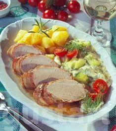 Lajos Mari konyhája - Szűzpecsenye tejszínes uborkával
