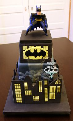 Batman birthday cake.