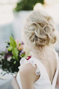 // Hair //  Photography: Jess Jackson Photography / Gown: Love Found True for The Babushka Ballerina / Hair & Makeup: Elina Valtilla Hair & Make Up / Location: Up On Constance / Florist: Green & Bloom Events