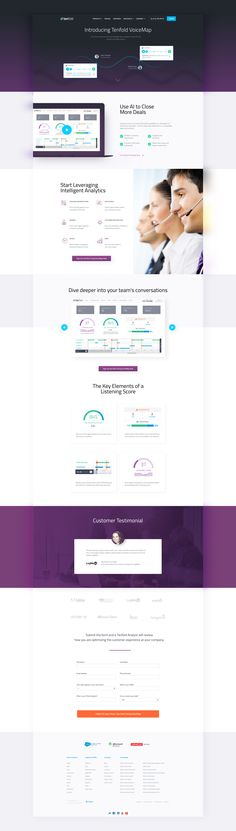 Voicemap landing page