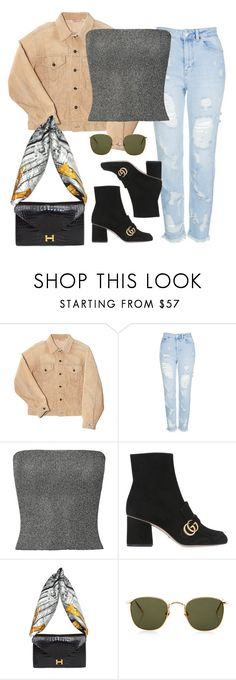 """Untitled #2071"" by adoresarah ❤ liked on Polyvore featuring Topshop, Missoni, Gucci, Hermès and Linda Farrow"
