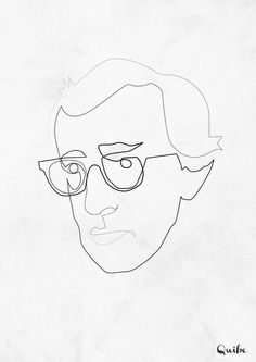 One Line Woody Allen Art Print