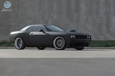 "Modulare Wheels | 2012 Challenger SRT-8 custom widebody | 22"" Modulare H1 brushed/matte black"