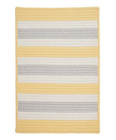 Take a look at this Yellow Shimmer Stripe It Indoor/Outdoor Rug by Colonial Mills on #zulily today!