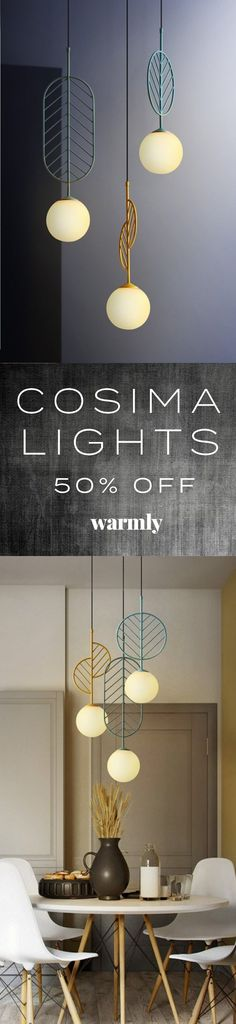Decorate and light your home with the modern Cosima pendant lamp! Made from iron metal Power Source AC Voltage 90 LED lights not included Three sizes & a range of colors available, sold individually Free Worldwide Shipping & MoneyBac Home Lighting, Modern Lighting, Cafe Interior, Interior Design, Modern Hanging Lights, Diy Wall Decor, Home Decor, Decoration, Pendant Lamp
